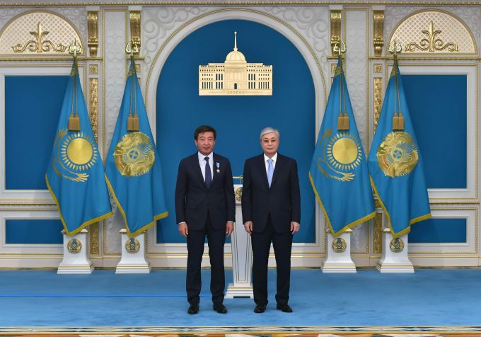 PRESIDENT OF KAZAKHSTAN KASYM-JOMART TOKAYEV AWARDED THE ORDER